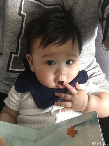 胡杏儿儿子六个月萌照曝光 眼神清澈嘟嘴可爱!