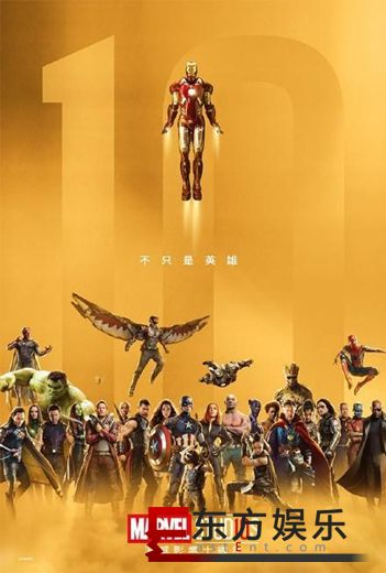 漫威十周年角色海报释出 超级英雄悉数出镜!