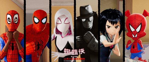 《蜘蛛侠:平行宇宙》曝出中国独家海报 年度最佳动画强势来袭