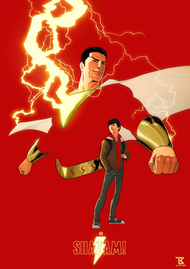 《雷霆沙赞!》艺术海报完美展现英雄气度 北美票房口碑双赢合家齐嗨