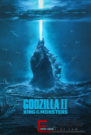 """《哥斯拉2:怪兽之王》曝光""""王者怒吼""""版海报  哥斯拉放大招震天撼地"""