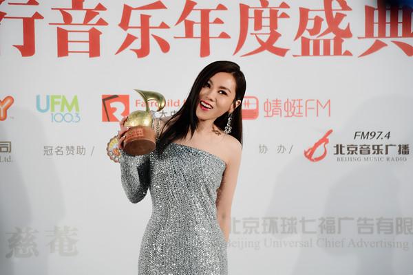 Tanya蔡健雅凭新专辑斩获本届流行音乐全金榜三项重量级奖项
