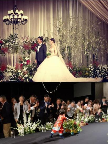 秋瓷炫于晓光儿子曝光 婚礼现场推花车为父母开路!