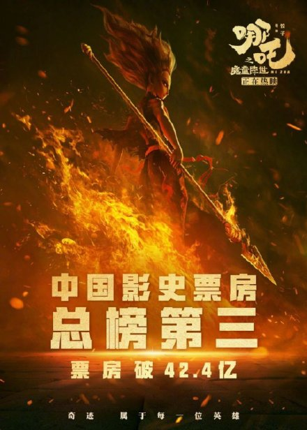 哪吒票房超复联4 自此中国票房前三被中国电影承包