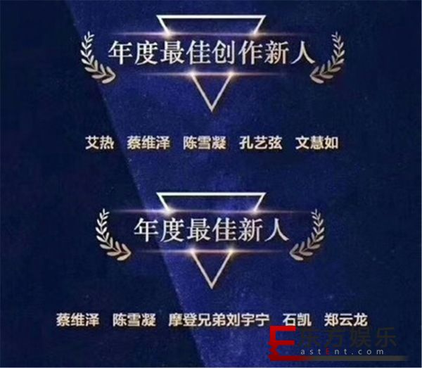 2019华歌榜年度典礼倒计时 王以太陈雪凝获提名备受关注