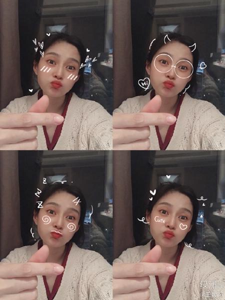 王媛可挑战30秒自拍 网友:是可爱本人了!