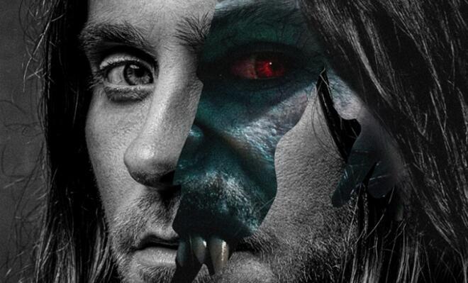 漫威巨制《莫比亚斯》发布特别海报 暗黑英雄血瞳獠牙摄人心魄