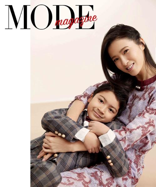 龚蓓苾携子同框拍杂志大片 气质女神秒变时尚辣妈
