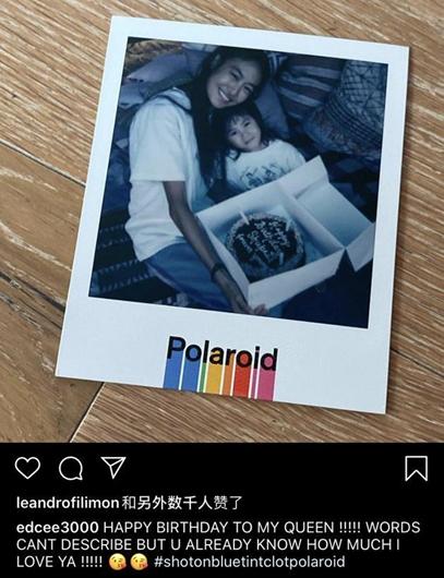 陈冠希为妻子秦舒培庆生:我的女王!爱你无以言表